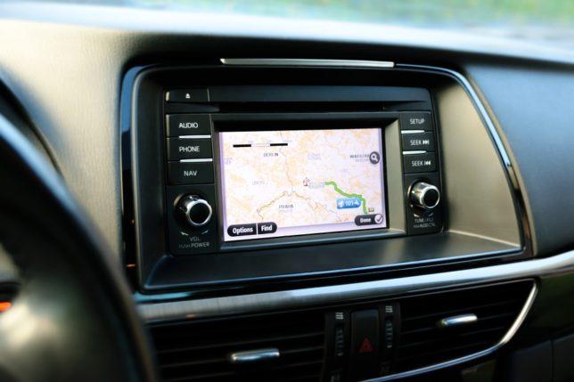 using GPS in car